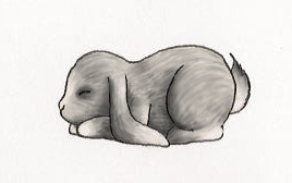 Silver Sleeping Bunny by AidenVP