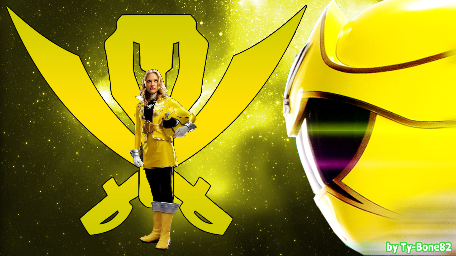 Super MegaForce Yellow Ranger - WallpaperHD-001 by Super ...