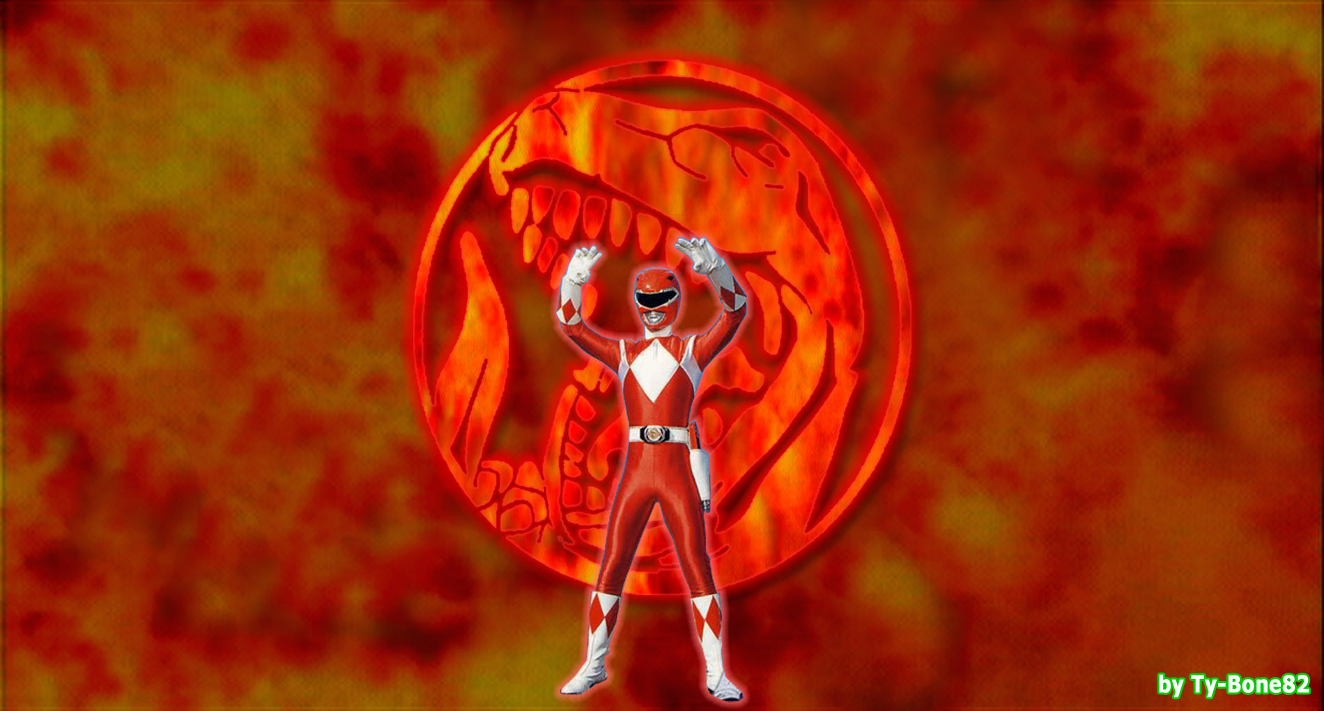 mighty morphin power rangers - red rangersuper-tybone82 on