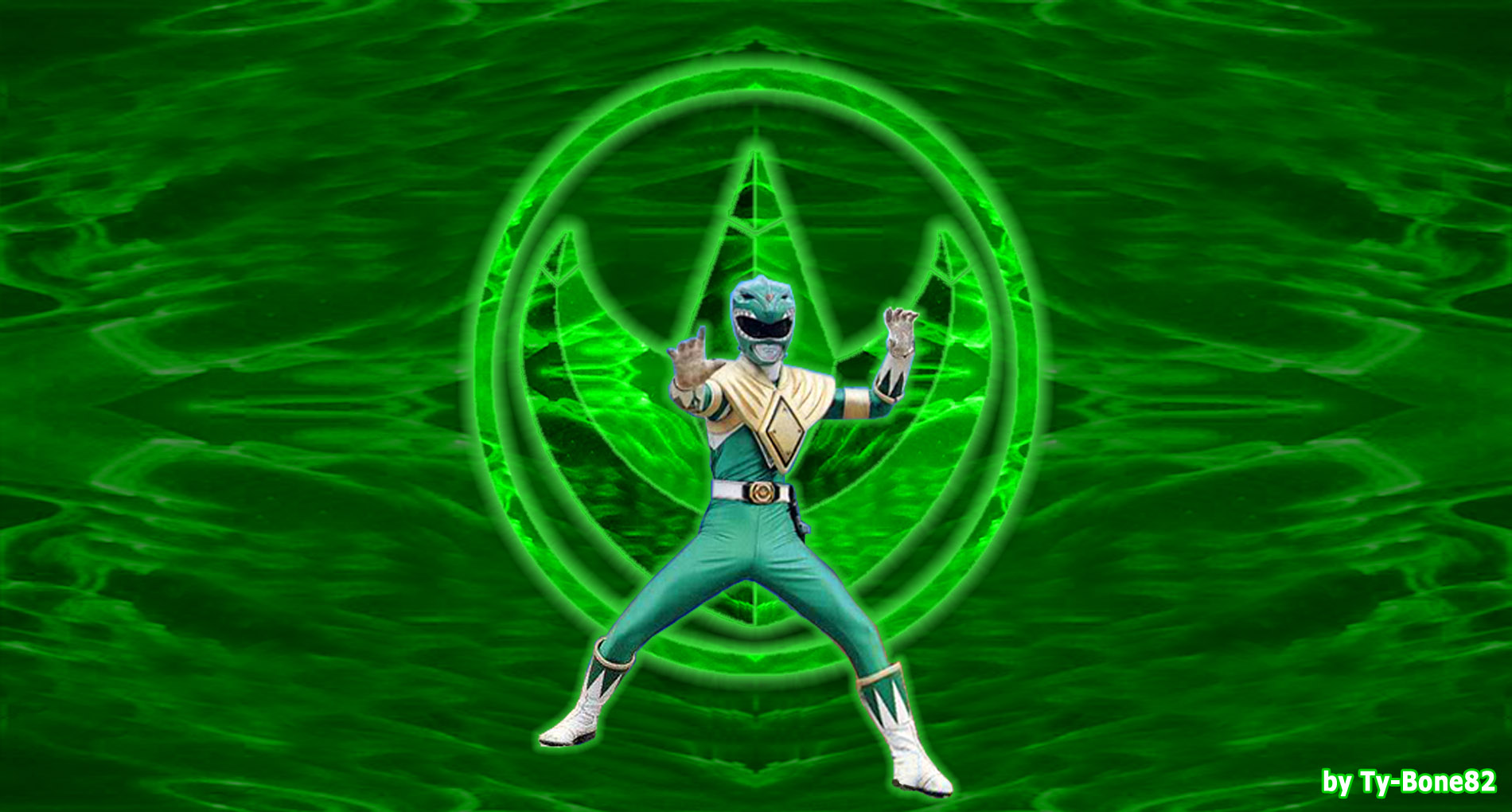 mighty morphin power rangers - green rangersuper-tybone82 on