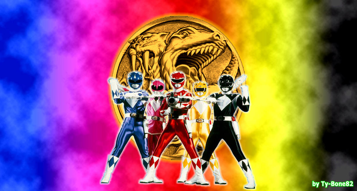 mighty morphin power rangers - team rangerssuper-tybone82 on