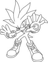 Silver the Hedgehog lineart