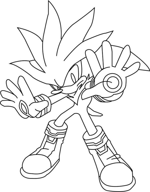 Silver The Hedgehog Lineart By Lineartdrawer On Deviantart Silver The Hedgehog Coloring Pages