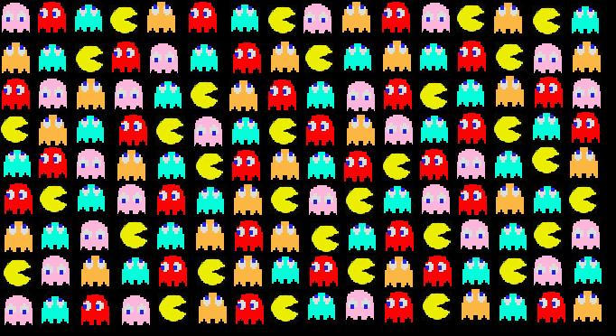 Pacman Pattern Pattern Design Inspiration Pacman Pattern Cool Mesmerizing Pacman Pattern