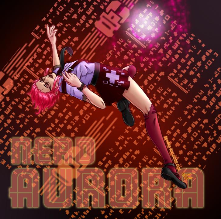 Nerd Aurora skin desgin by GenGen-Art
