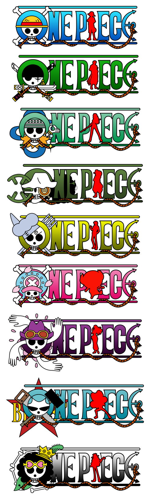One Piece Logo Straw Hats Crew 2Y Post Timeskip By Mcmgcls