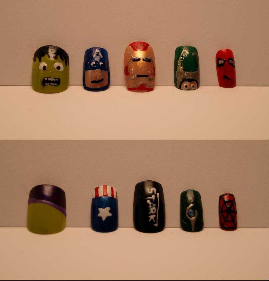 Marvel Nail Art by Relentless675 on DeviantArt