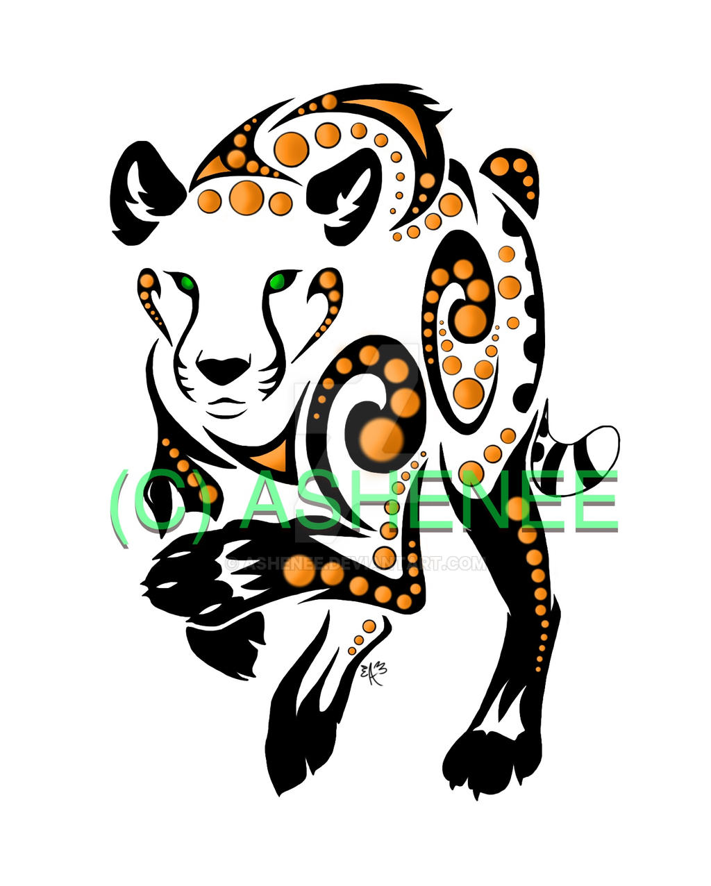 ::cheetah Tribal:: by Ashenee