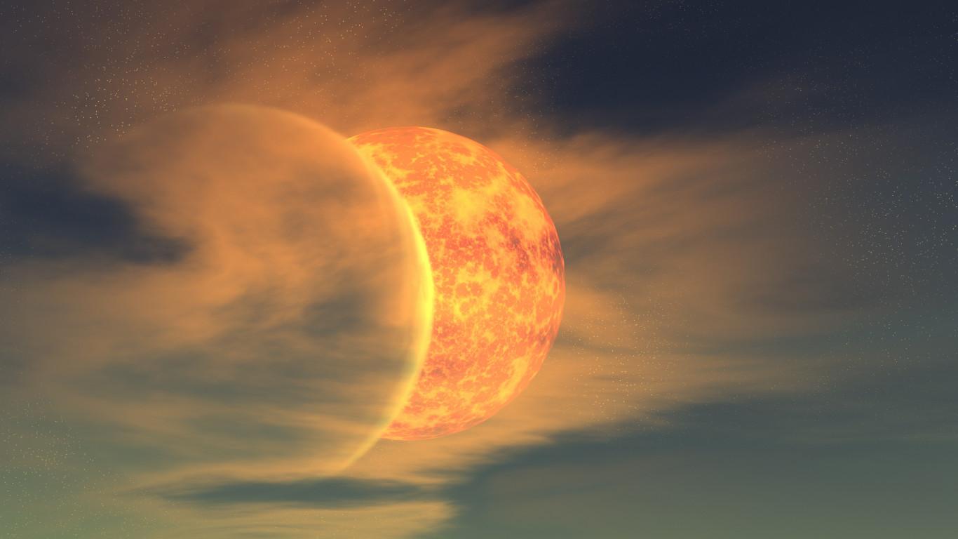 moon and sun - HD1366×768