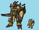 Combat Darklizamon - with overworld sprite by Mototuku