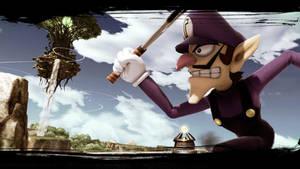 Waluigi - Smash Bros. Ultimate Wallpaper