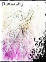 Fluttershy Fancy Sketch by Grimbunny1