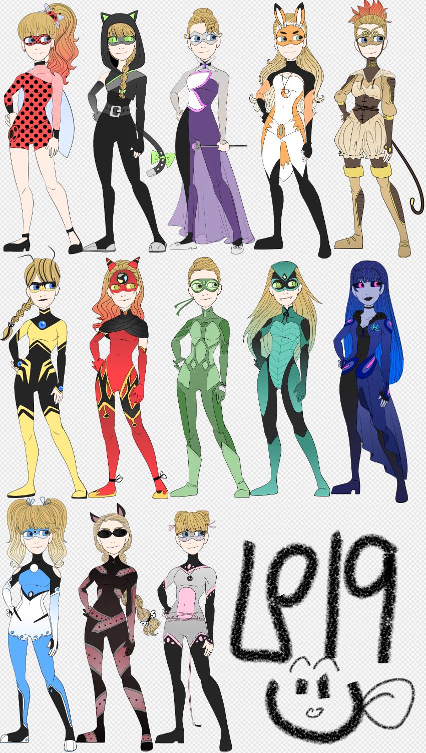 Miraculous Hero Designs Paint Version By Grimbunny1 On Deviantart