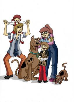 Shaggy and Velma's family by NyuSho