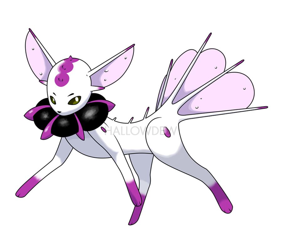 Poison Eevee Evolution by HallowDew on DeviantArt
