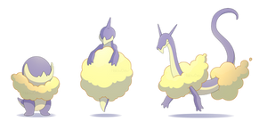 Cloud Dragon Pokemon by HallowDew