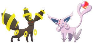 Mega Umbreon and Mega Espeon