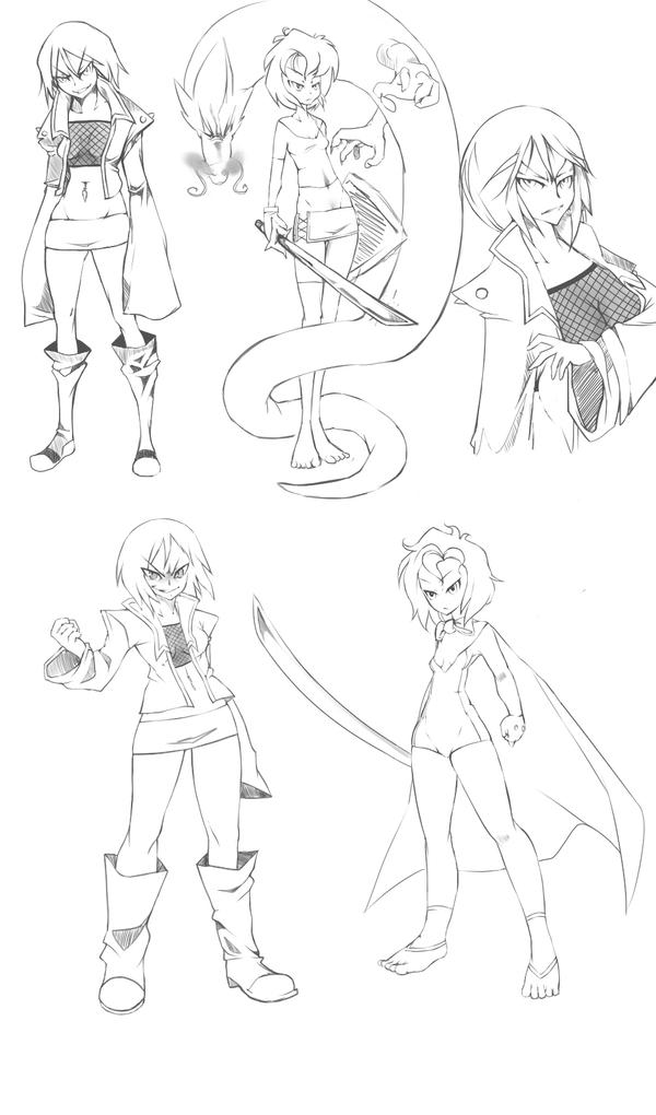 Sketch Dump - Style experiment by snoop19922002