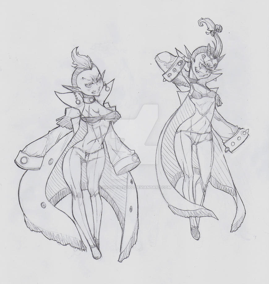 OC - Fortuo (left) Freya (right) II by snoop19922002