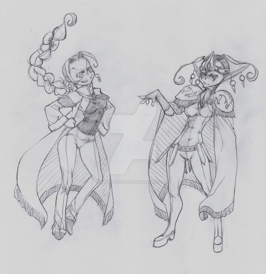 OC - Raphaela (left) Wasaki (right) by snoop19922002