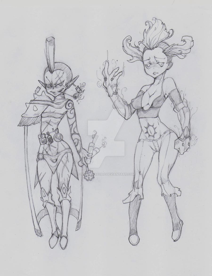 OC - Gwar (left) Ellen (right) by snoop19922002
