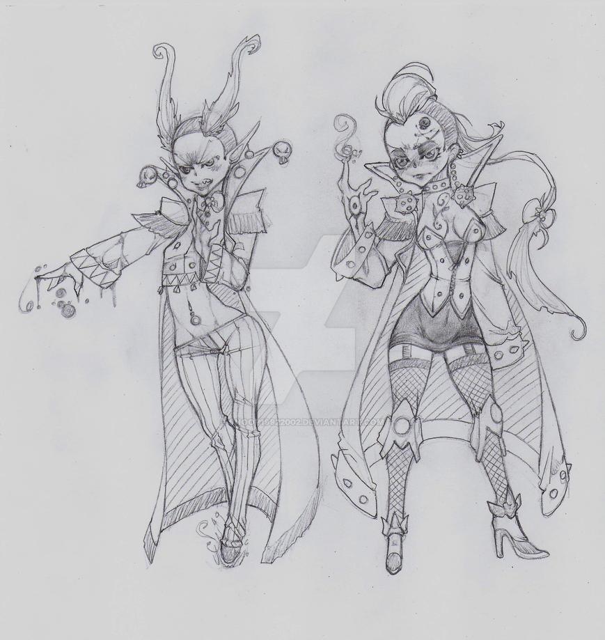 OC - Vox (left) Elysia (right) by snoop19922002