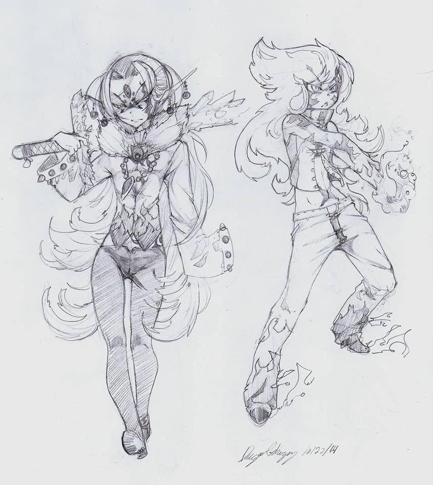 OC - Aegis (Left) Passion (Right) by snoop19922002
