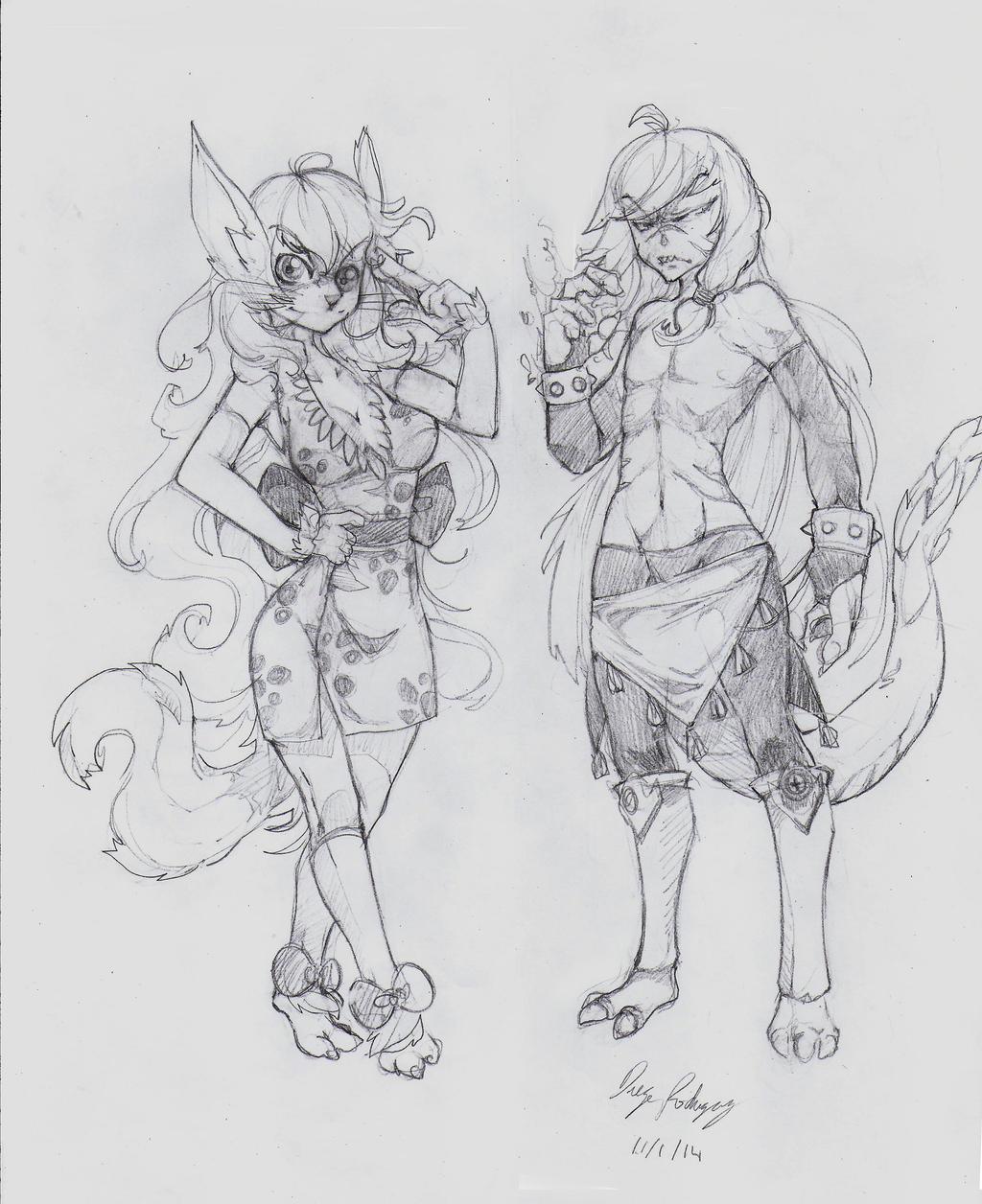 OC - Kats (Left) Drake (Right) by snoop19922002
