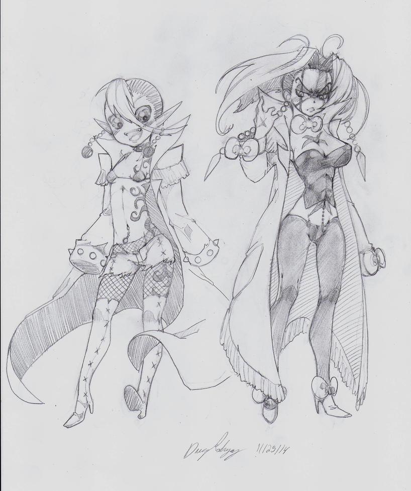 OC - Wilhelmina (left) Momoko (right) II by snoop19922002