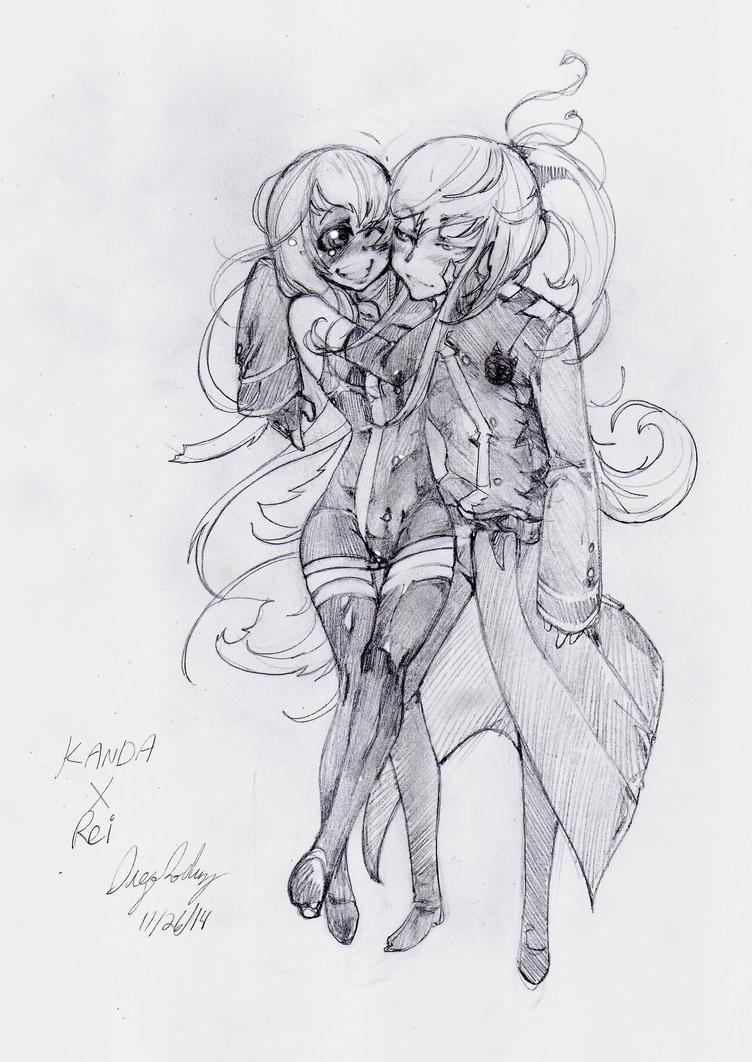 Kanda X Rei drawing for GazeRei by snoop19922002