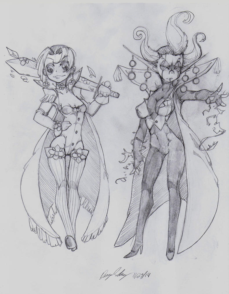 OC - Flor (left) Sola (right) by snoop19922002