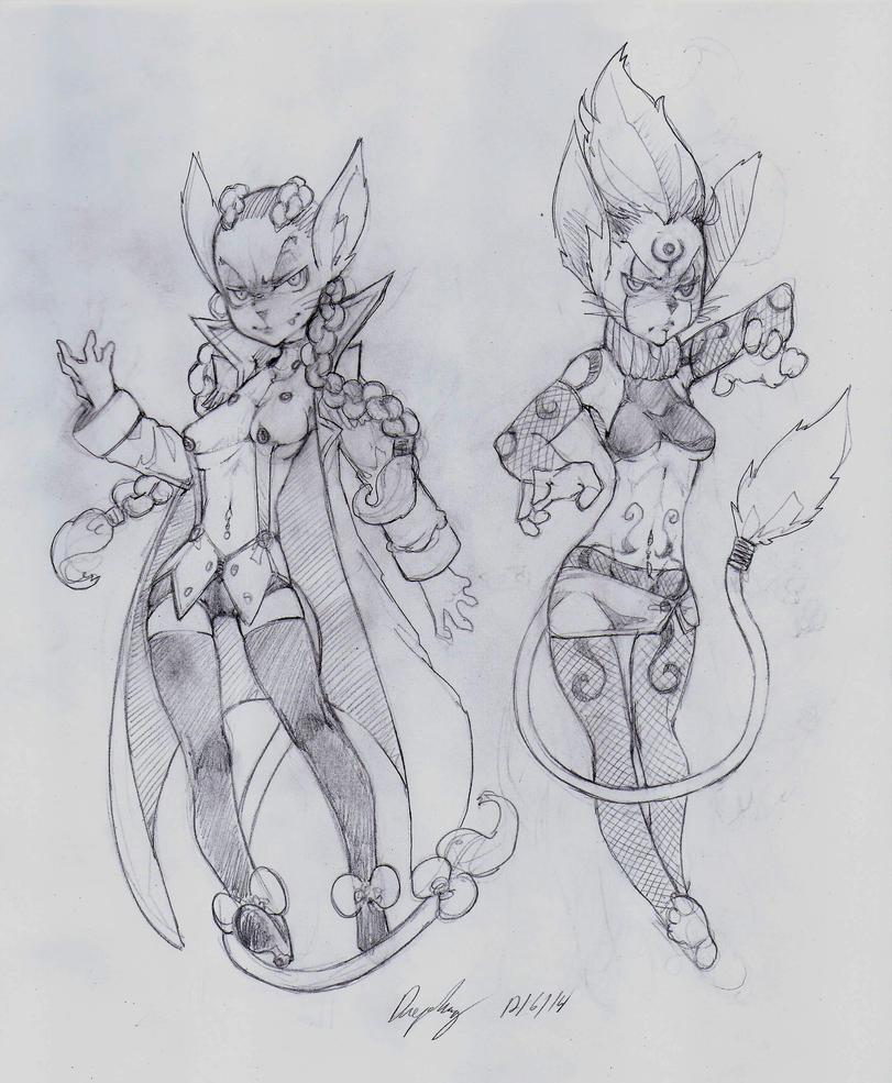 OC - Gigi (Left) Tekla (Right) by snoop19922002