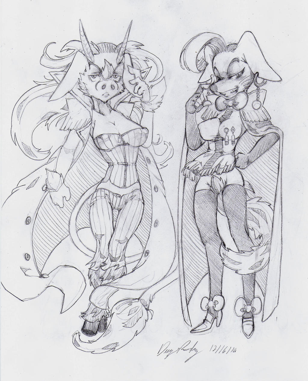 OC - Cottontail (Left) Pegasus (Right) by snoop19922002