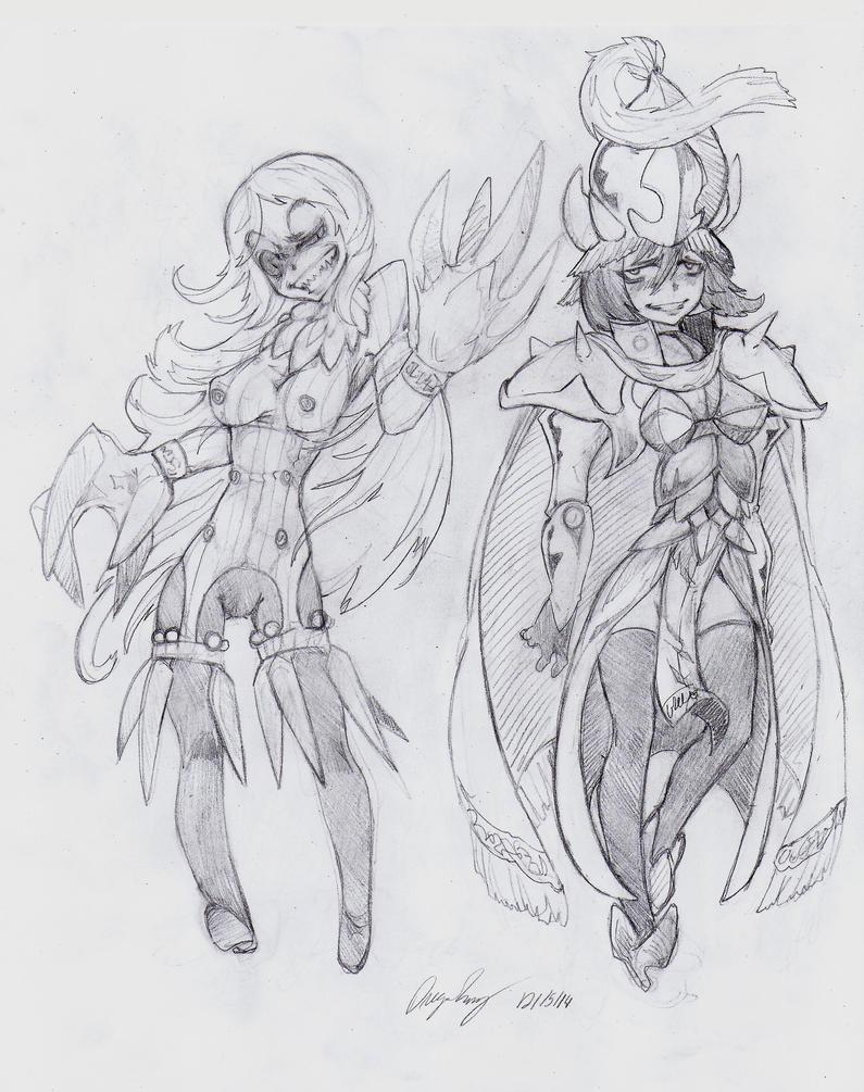 OC - Honus (Left) Valeria (Right) by snoop19922002