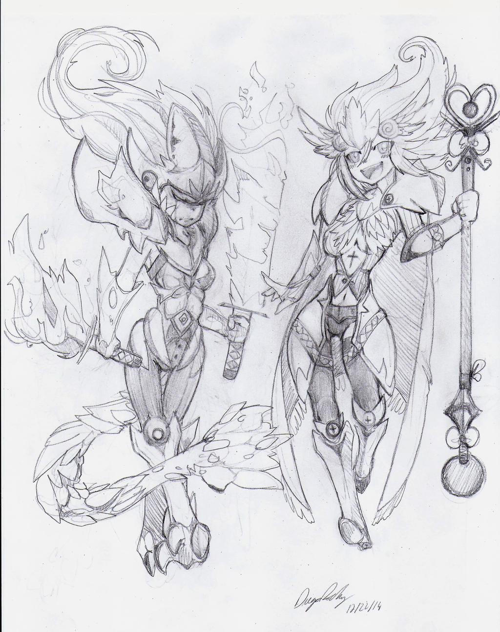 OC - Akuma (Left) Tenshi (Right) by snoop19922002