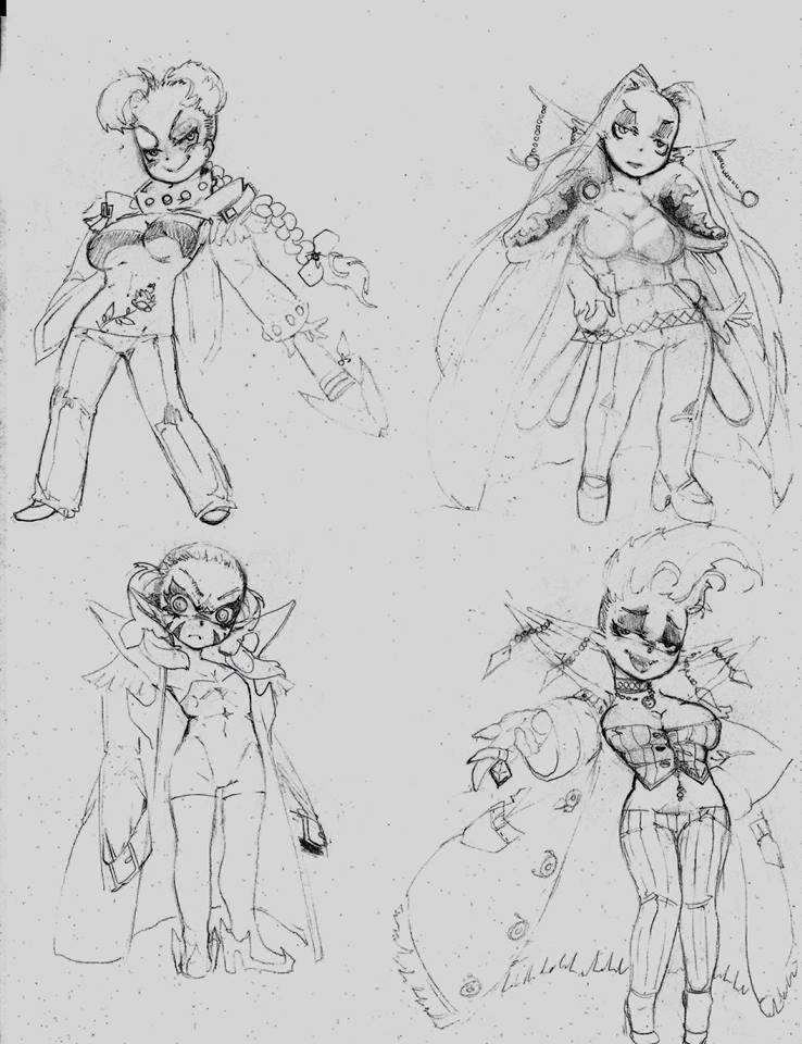 OC - Raphaela, Wasaki, Selia, Piper by snoop19922002