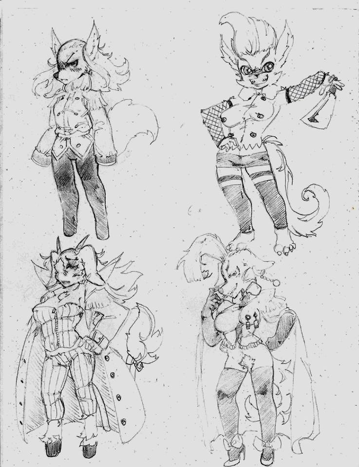OC - Bliss, Grendel, Cottontail, Pegasus by snoop19922002