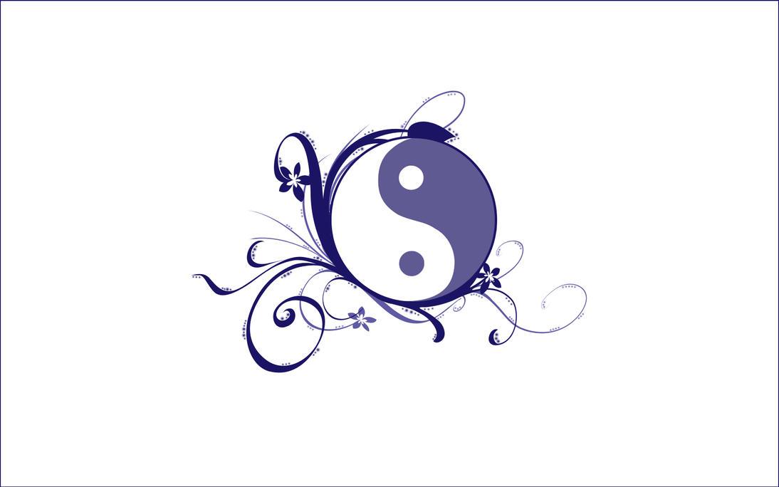 Flower Yin Yang White Bg By Airelon On Deviantart
