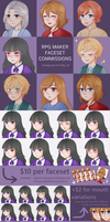 RPG Maker Faceset Commissions Info [OPEN] by Liny-An