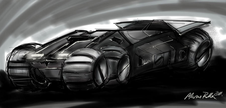 Bat mobile concept by Bluedonutstudios