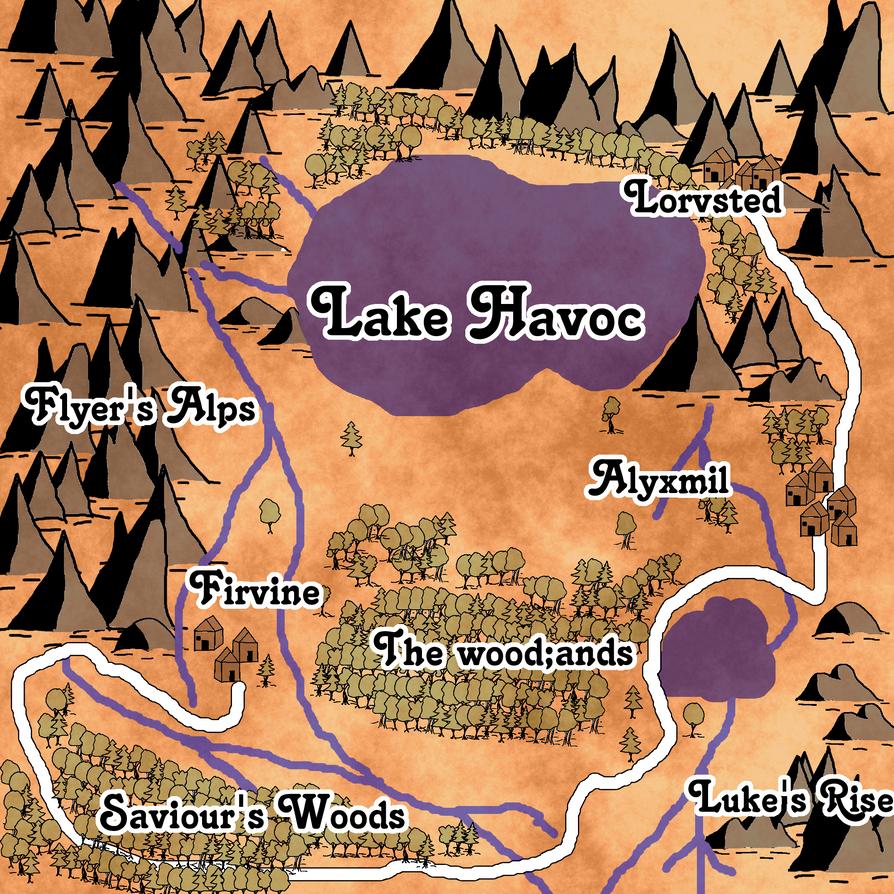 Region map #2 by DragonsNeedToEat