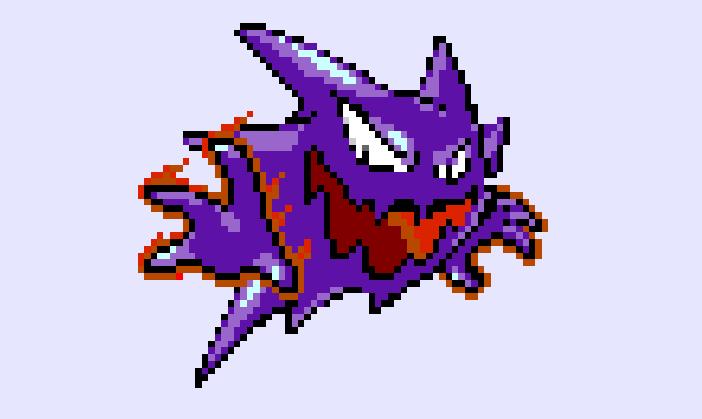 Haunter pokemon Pixel by princessofdarkness26