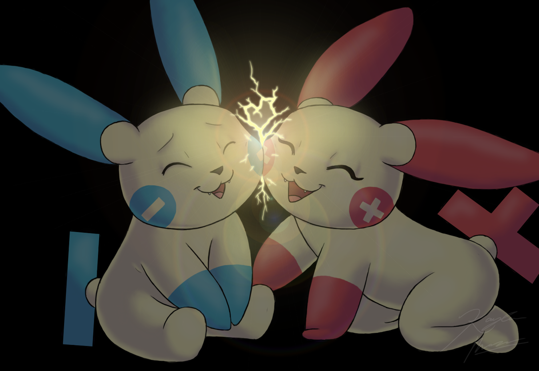 Plusle And Minun Wallpaper Plusle And Minun by