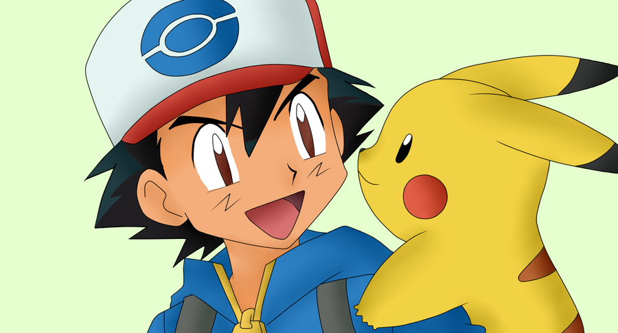 Ash and Pikachu by IshKittyPokemon Pikachu And Ash
