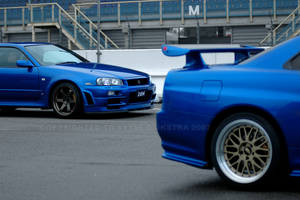 Skyline R34 GTR: Pose by Vipervelocity
