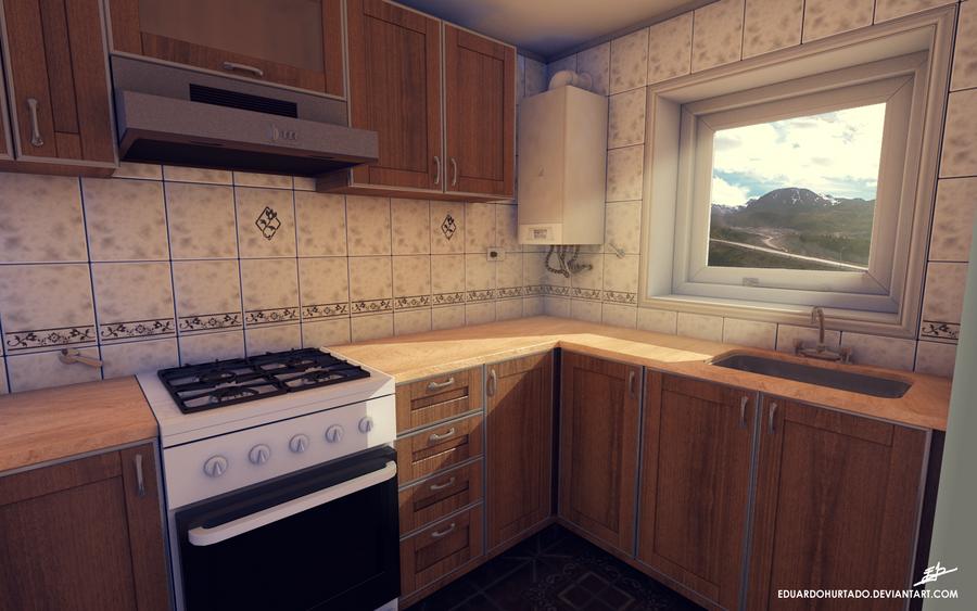 Kitchen Render 01 By EduardoHurtado ...