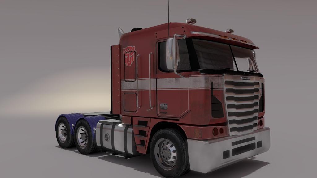 Optimus Prime Truck Mode by birdmanstudio
