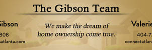 The Gibson Team Banner