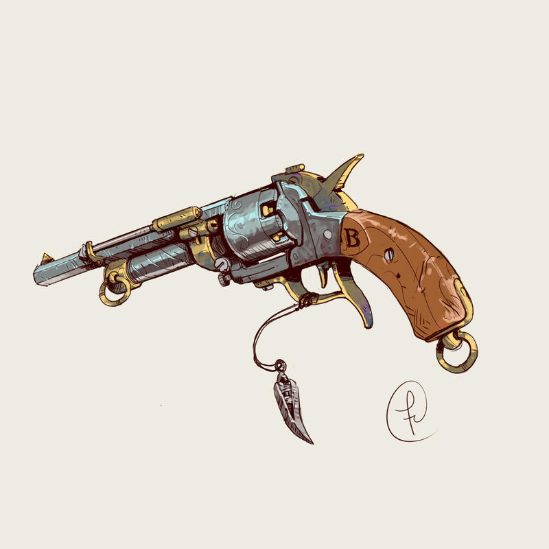 Old Hunter revolver by Fernand0FC