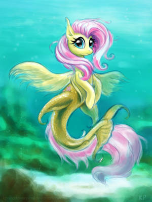 Seapony Fluttershy By Kp Shadowsquirrel-d4oc3j4 by Blumydia